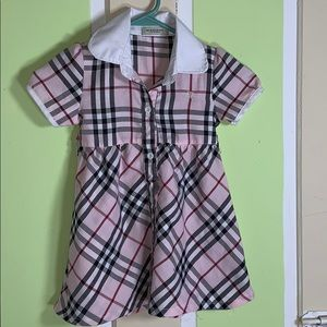 Toddler dress LARGE  BURBERRY LONDON PINK PLAID